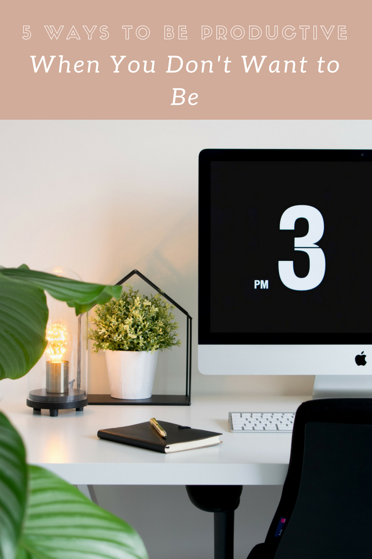 5 Ways to Be Productive